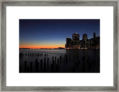 Sunset In Manhattan Framed Print by Kean Poh Chua