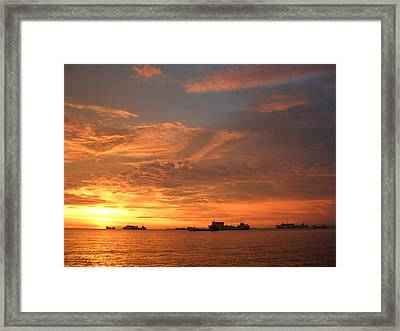 Sunset In Merak-2 Framed Print