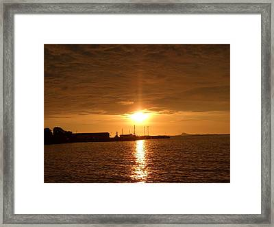 Sunset In Merak Framed Print