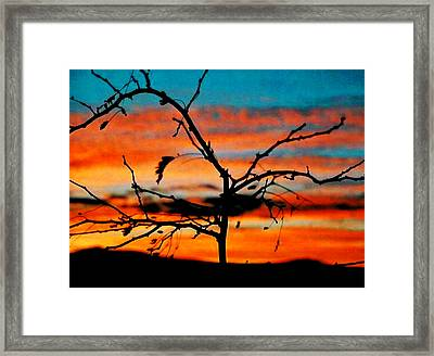 Sunset In Nevada Framed Print by Stephani JeauxDeVine