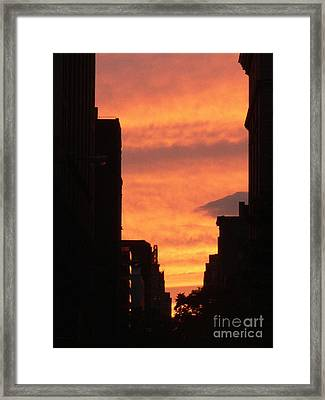 Sunset In Nyc Framed Print