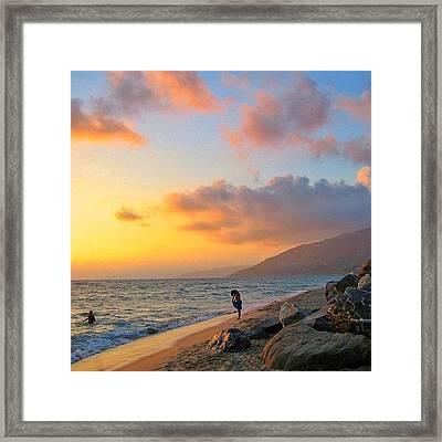 Sunset In Palinuro Framed Print