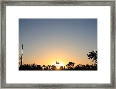 Sunset In Paradise Framed Print by Nicholas Lowcock