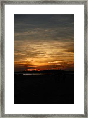 Framed Print featuring the photograph Sunset In Pastels by Fotosas Photography