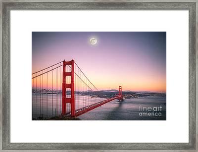 Sunset In San Francisco Framed Print