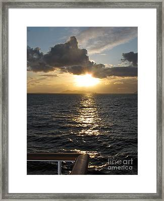 Sunset In The Black Sea Framed Print by Phyllis Kaltenbach
