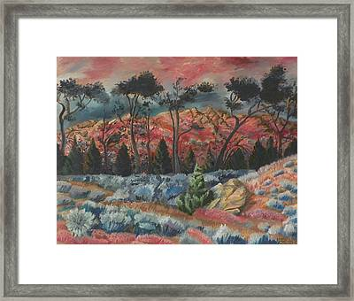 Sunset In The Cheatgrass Framed Print