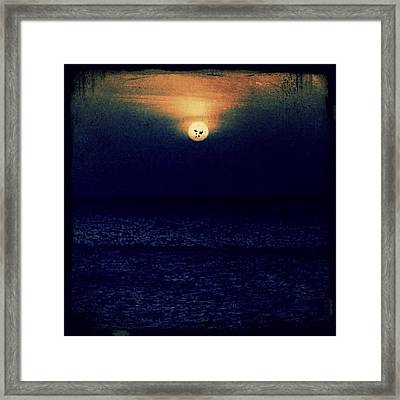 Sunset In The Dominican Republic Framed Print