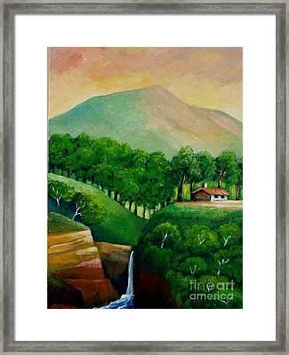Sunset In The Mountain Framed Print