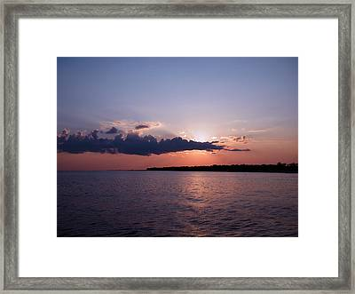 Framed Print featuring the photograph Sunset In The Pass by Brian Wright
