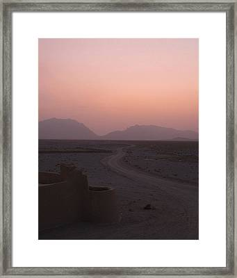 Sunset In The Persian Desert Framed Print by Tia Anderson-Esguerra