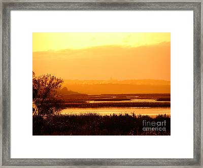 Sunset In The Rain Framed Print