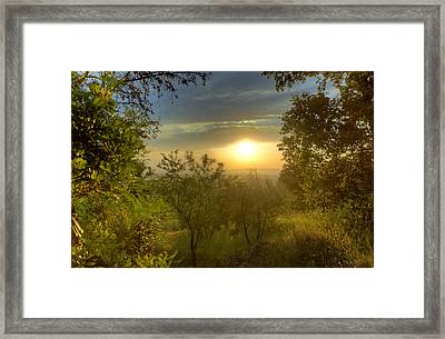 Sunset In Tuscany Framed Print by Al Hurley