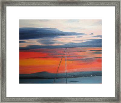 Sunset Framed Print by Iris Nazario Dziadul