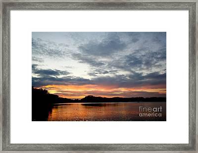 Sunset Framed Print by Jo