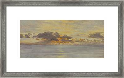 Sunset Framed Print by John Brett