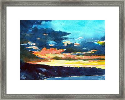 Sunset Framed Print by Jon Shepodd