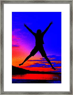 Framed Print featuring the photograph Sunset Jubilation by Patrick Witz