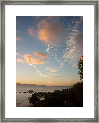 Sunset  Framed Print by Kat  H