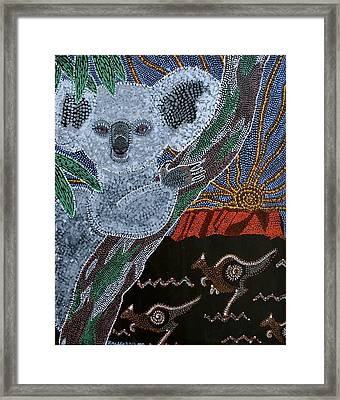 Sunset Koala And Kangaroo Framed Print