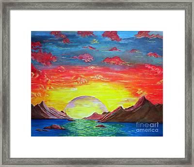 Sunset Framed Print by Kostas Dendrinos