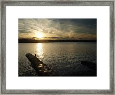 Framed Print featuring the photograph Sunset Lake by Raymond Earley