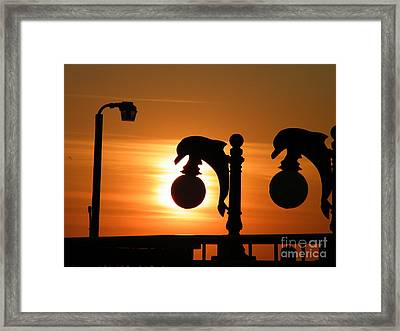 Sunset Lamp Framed Print by Laurence Oliver