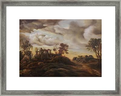 Sunset Landscape Framed Print by Dan Scurtu