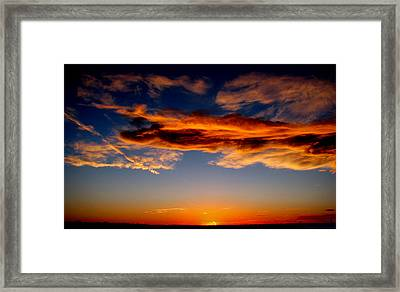Sunset Layers Framed Print by Aaron Burrows