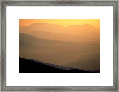 Sunset Layers Framed Print