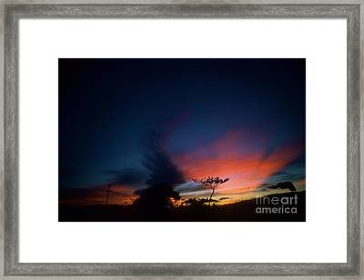 Sunset Leeward Oahu Framed Print