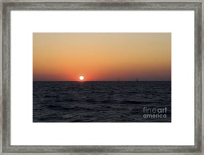 Framed Print featuring the photograph Sunset by Leslie Leda