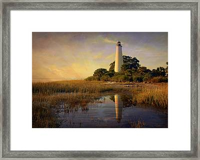 Sunset Lighthouse 3 Framed Print by Marty Koch