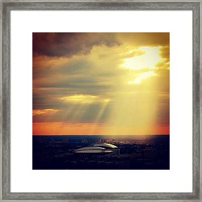 Sunset Lighting The New Miami Marlins Framed Print