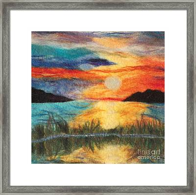 Sunset Loch Framed Print