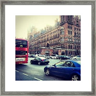 #sunset #london #buildings #classic Framed Print