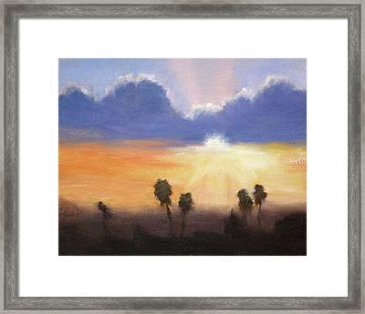 Sunset Framed Print by Lori Quarton