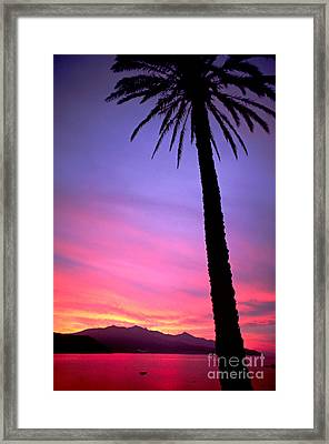 Framed Print featuring the photograph Sunset by Luciano Mortula