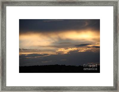 Framed Print featuring the photograph Sunset by Marta Alfred