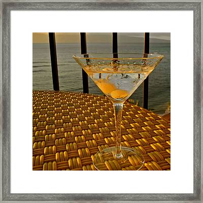Sunset Martini In Maui I Framed Print by Kirsten Giving