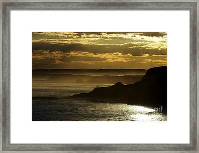 Sunset Mist Framed Print