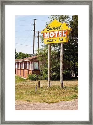 Sunset Motel Framed Print