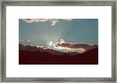 Sunset Framed Print by Naxart Studio