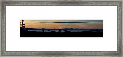 Sunset Near Mt. Bachelor Framed Print by Twenty Two North Photography