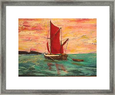 Sunset Near Sheppy Framed Print by Peter Edward Green