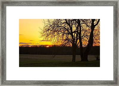 Sunset Near The Jersey Shore Framed Print by Ann Murphy