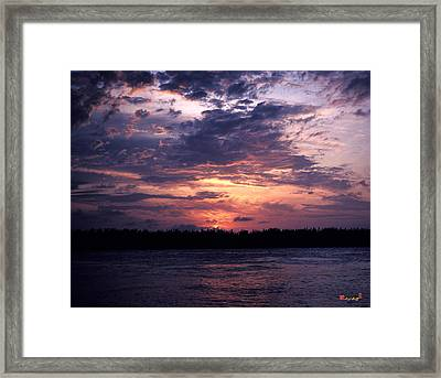Sunset Off Mallory Square 14s Framed Print by Gerry Gantt