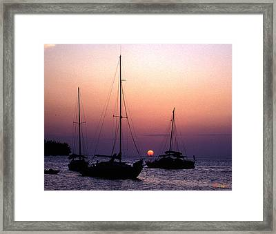 Sunset Off Simonton Street 14e Framed Print by Gerry Gantt