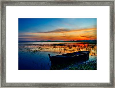 Framed Print featuring the photograph Sunset by Okan YILMAZ