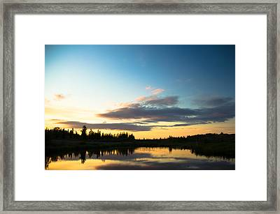 Sunset On A Lake Framed Print